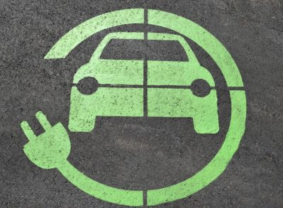 Electric car charge symbol